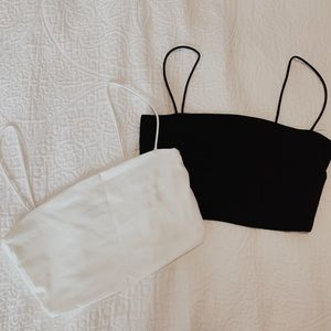 SHEIN Tops - Set of Two skinny strap crop tops